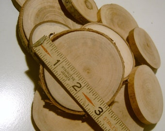 50 Tree Branch Slices 3 inch Coaster Size