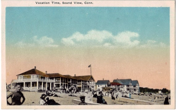 Vintage Connecticut Postcard - Vacation at Sound View (Unused)