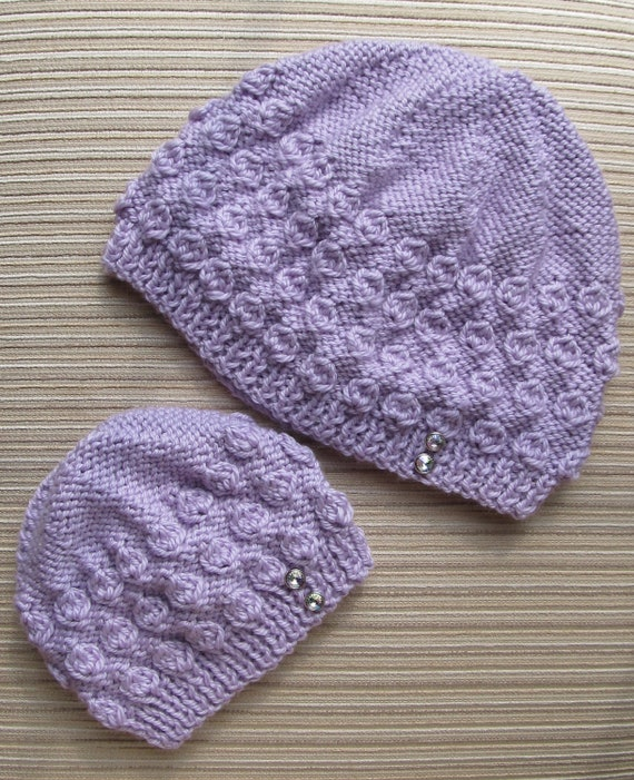 Knitting Pattern Numbers : Number 66 PDF Knitting Pattern Hazelnut Stitch Hat in Sizes