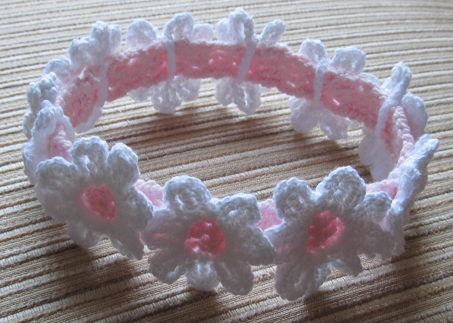 Crochet Headband Pattern For Baby With Flower : Instant Download 59 Crochet Pattern Baby Headband With White