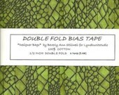 "6 Yards Handmade Double Fold BIAS Tape - Green Reptile ""Designer Bags""  from Lyndhurst Fabrics - 6 Yards"