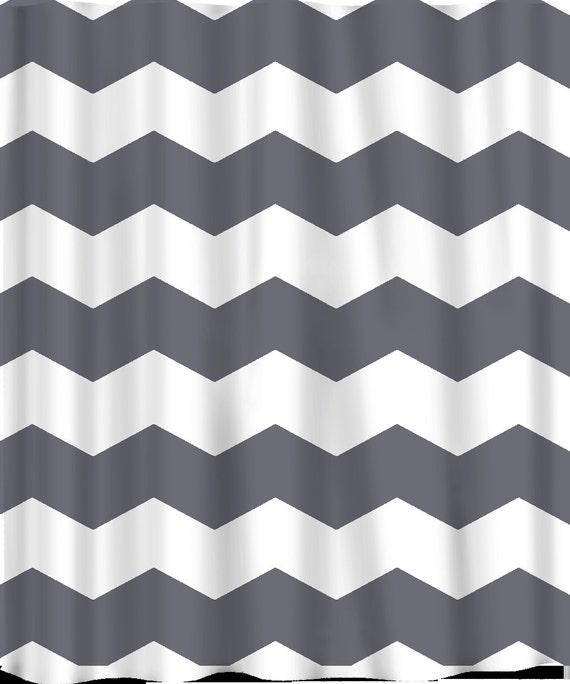 Custom Chevron Shower Curtain Extra Wide  Inch Stripes - Black and white chevron shower curtain