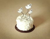 Miniature Dollhouse Halloween Ghost Cake, White, Bakery, Scale One Inch, 1:12 scale, Dessert, Mini Cake
