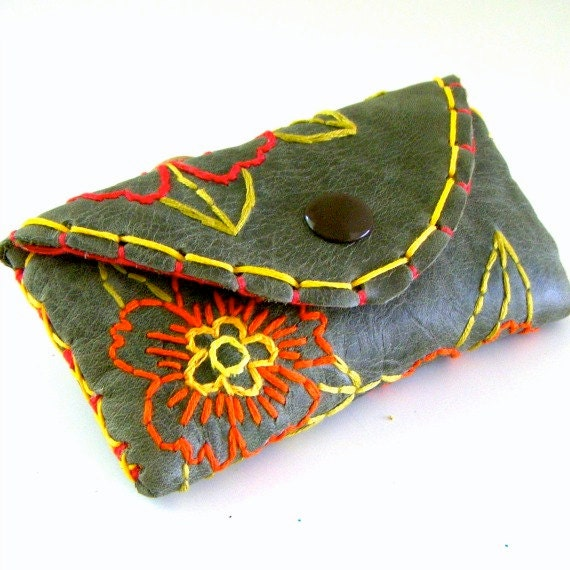 Embroidered Leather Wallet 20 Off Leather Wallet Hand