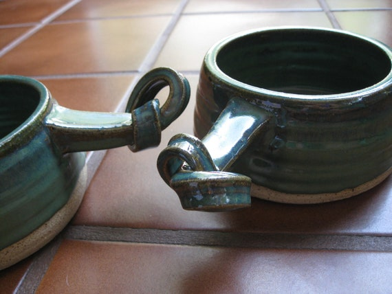 Teal Knot Pots--Great for Soup