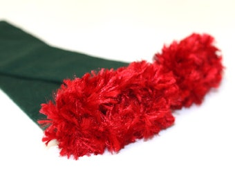 Green and Red Christmas Baby Leg Warmers