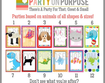 Animal Birthday Banner and Cupcake Toppers Fully Assembled Decorations