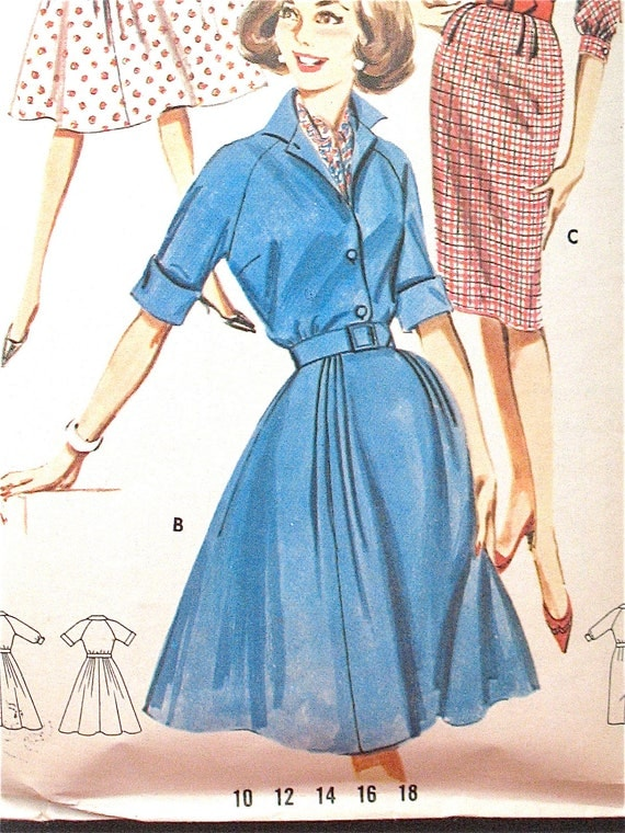 Vintage dress pattern from 1961 by Butterick 9941.  Bust is 38 inches.