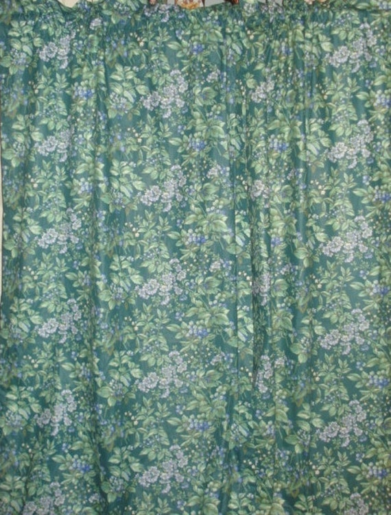 Ashley Berry Internationally Recognized 13 Year Old Anti: LAURA ASHLEY Berry Bramble Vines/berry Lined Curtain Drapes 2