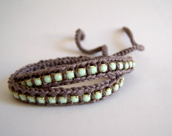 Friendship bracelet / crochet wrap bracelet