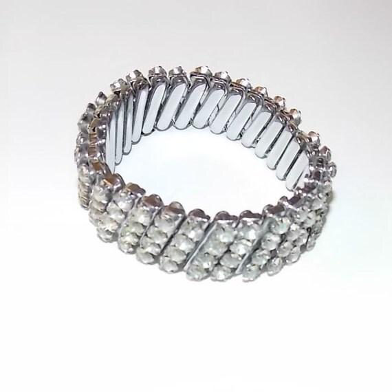 1950s Rhinestone Stretch Bracelet