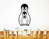 Cute Penguin Happy Family Decals