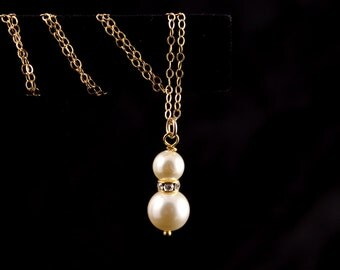 Bridesmaid Jewelry 10% OFF Set of 6 Gold or Silver Pearl Necklaces Mariah