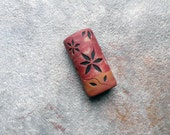 Sunset - polymer clay focal bead