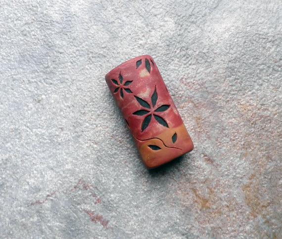 Sunset - polymer clay focal bead