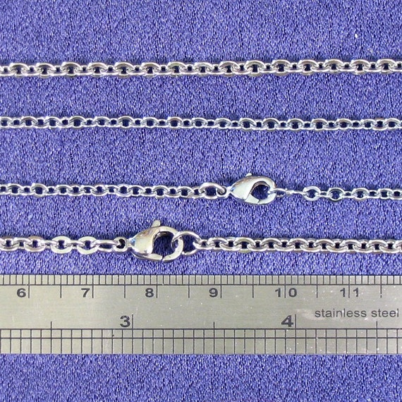 "Chain Upgrade - Medium Stainless Cable Chain, 16""-20"", Must be combined with One of our Pendants"