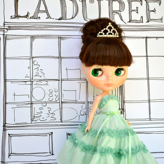 Menthe Ball Gown for Blythe Doll - French Macaron Collection