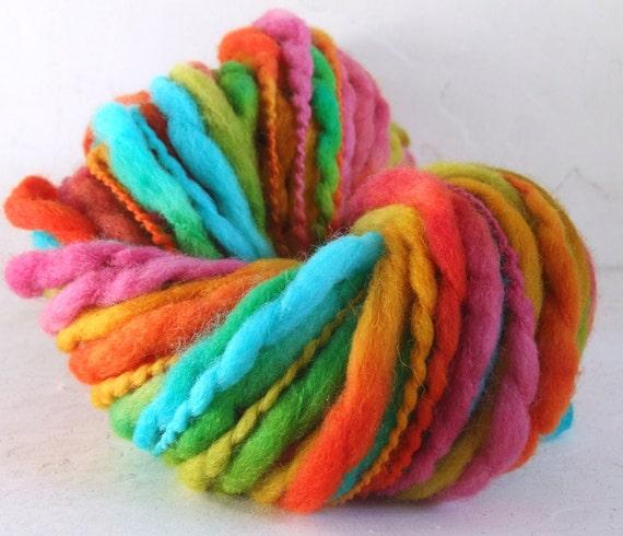 Hand Painted Thick and Thin Merino Yarn - Autumn Rainbow