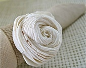 Napkin rings with a neutral colored rose sola flower and wheat colored burlap.  For the simply elegant table setting - set of 50