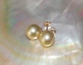 NATURAL GOLDEN South Sea Pearl Earrings