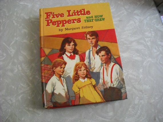 Vintage Book Children Five Little Peppers and How They  Grew