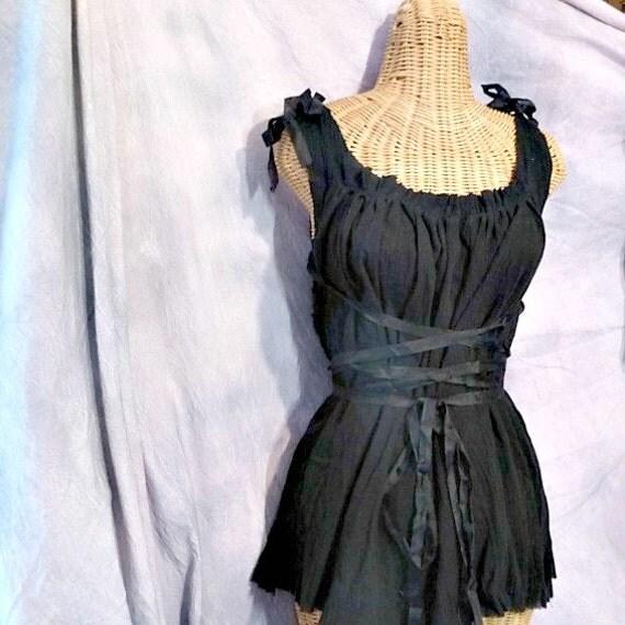 Absinthe Corset Dress All Sizes Little Black Cocktail Short, Midi, Maxi, Ren Faire Custom Elf, Fairy, Pixie, Renaissance Womens