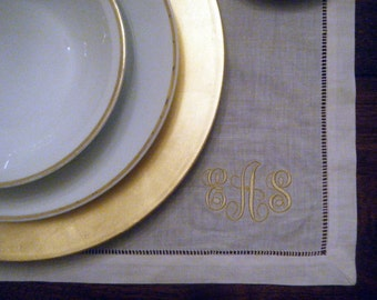 Monogrammed Linen Placemat - Set of Four