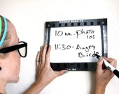Dry Erase Board Art . Photography Negative Film Frame Back to School Black and White Board