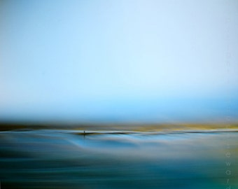 abstract landscape, surreal, abstract seascape, blue sea, contemporary art, modern art, zen photography, giclee art, beautiful photo, giclee
