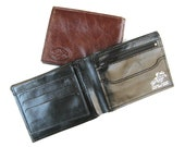 Men's Leather Wallet, Men's Learge Leather Wallet, Genuine Leather Wallet, Credit Card Wallet, Gift For Him -in SHINY CLASSIC BLACK (No.314)