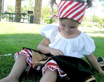 Toddler Girl Pirate Costume  - 4 Piece Set