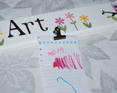 Children's Artwork Display Clips . Owls and Flowers