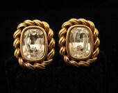 Reserved for V do not buy Vintage Swarovski Large Rhinestone Wedding Earrings