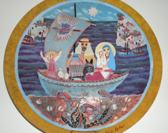 1980 Flight Into Egypt. Heidi Keller Christmas Scenes Decorative Plate
