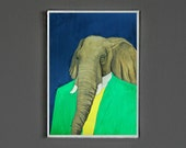 Art Print - Elephant - Signed by Artist - 8x10 // 16x20 // 22x28