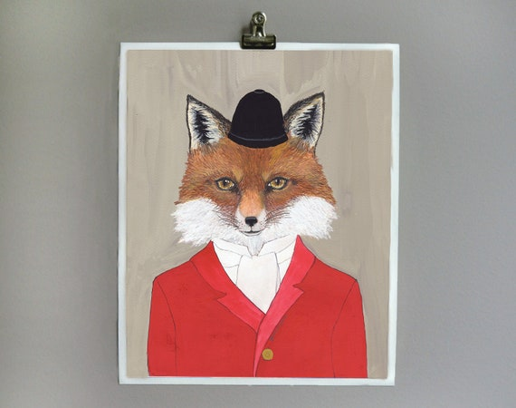 8x10 - Art Print - Fox - Signed by Artist