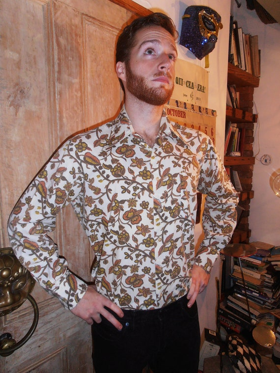 SALE Cowboy Floral Western Seventies Shirt by Ever Pressed Coast to Coast National Shirt Shops M/L/Xl