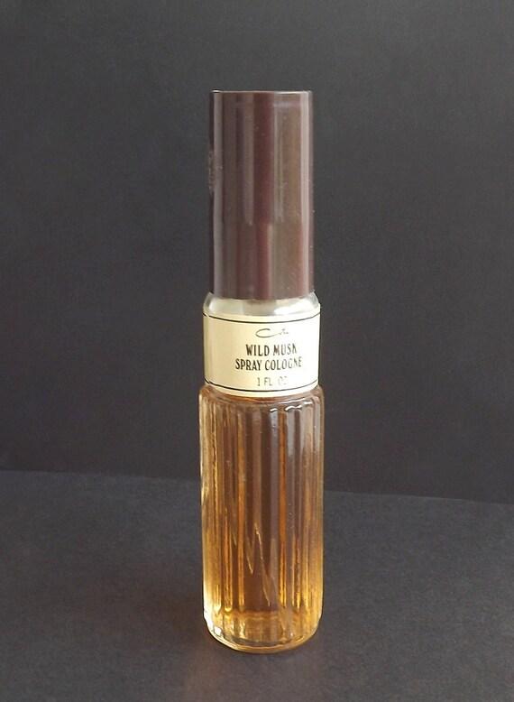Vintage Cologne Perfume Spray Wild Musk Coty Retro 1980