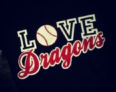 love custom sports shirt football baseball cheer