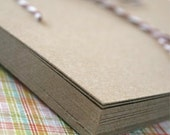 5 x 7 Inches - Kraft Recycled Chipboard Paper - set of 25 - Crafting or Letterpress or Stamping