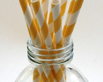 25 Banana Yellow Paper Straws - Perfect for Parties - Favors--Free Editable DIY Tags PDF