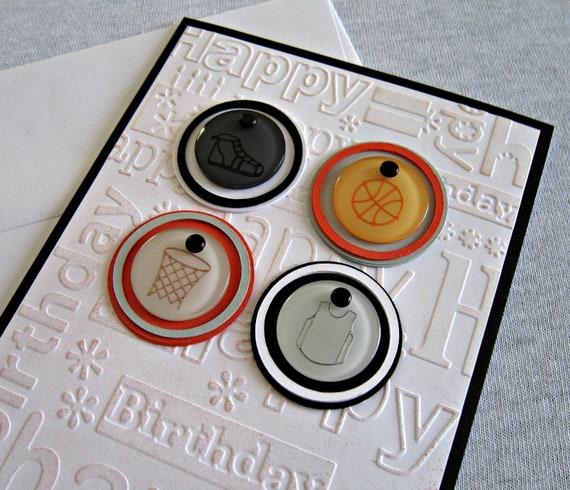 Basketball Embossed Birthday Card