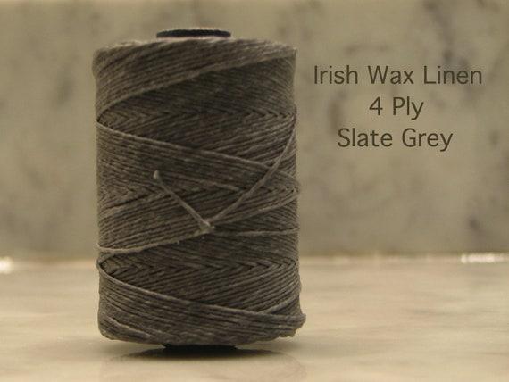 Irish Wax Linen 4 Ply-10 yards of Slate Grey
