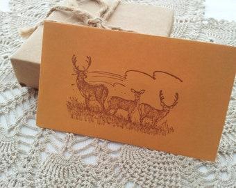 Deer Gift Card Holders Envelopes Set of 6