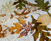 50 upcycled wallpaper leaves - for your crafts