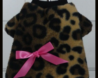 Crazy About Leopard Dog TShirt Clothes by Doogie Couture Size XXXS through Medium