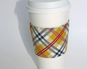 Preppy Fall Plaid Reusable Coffee Sleeve