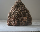 Newborn Hat with Texture in Earth Tones