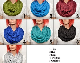 Silk scarf - Infinity scarf - Infinity Silk Scarf