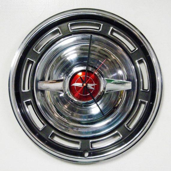 1966 Buick Skylark Special Spinner Hubcap Wall Clock - Retro Vintage Wall Decor